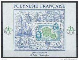 """Polynésie Bloc Yt 12 """" Stockholmia'86 """" 1986 Neuf** - Blocs-feuillets"""