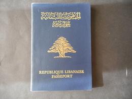 PASSPORT LEBANON لبنان LIBAN STAMPS TAXE TAX FISCAL GREECE HELLAS + 8 PHOTO - Lebanon