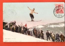 TRG-14  Ski-Sport, Saut à Ski.  Cachet Mont-Pelerin Sur Vevey 1909 Vers Paris - VD Vaud