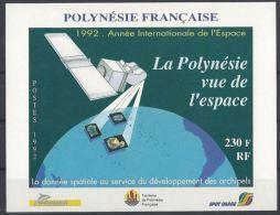 """Polynésie Bloc Yt 19 """" Vue De L'Espace """" 1992 Neuf** - Blocks & Sheetlets"""