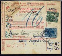 YOUGOSLAVIE - 1929 - Postes N° 162 ET 167 Sur Colis Postal De Zagreb Pour Vinkovci, T.Taxes Au Verso - B/TB - - 1919-1929 Royaume Des Serbes, Croates & Slovènes