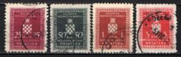 CROAZIA - 1943 - STEMMA DELLA CROAZIA - USATI - Croatie