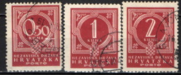 CROAZIA - 1941 - CIFRA E STEMMA DELLA CROAZIA - USATI - Croatie