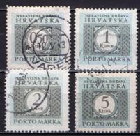 CROAZIA - 1943 - CIFRA E CORNICE DECORATIVA - USATI - Croatie