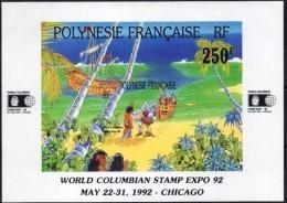 """Polynésie Bloc Yt 20 """" Exposition Philatélique """" 1992 Neuf** - Blocs-feuillets"""