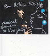Dédicace Autographe Original Real Signature Claude NOUGARO Chanteur - Autographes