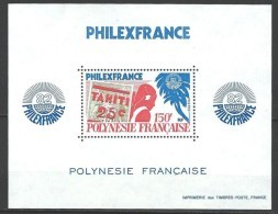 """Polynésie Bloc Yt 6 """" Philexfrance'82 """" 1982 Neuf** - Blocs-feuillets"""
