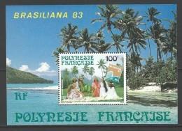 """Polynésie Bloc YT 7 """" Brasiliana'83 """" 1983 Neuf** - Blocs-feuillets"""