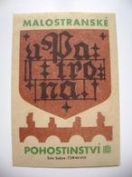 "Czechoslovakia  Matchbox Label 1964 - Prague Little Quarter - ""U Patrona"" - Restaurant - Matchbox Labels"