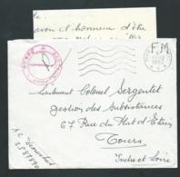 Lac Oblitéré Cad Poste Aux Armée ( 3 étoiles ) + CACHET  Rouge Secteur Postal 87890 ( Algérie ) En Dec 1962  - Lx0401 - Postmark Collection (Covers)