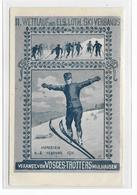 Carte Artistique Dessinée  MARKSTEIN - 2è SKILAUF - VOSGES TROTTERS MULHOUSE - 1911 - Guebwiller