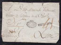 Guatemala Ca 1818 Cover Front GUATEMALA To LEON CROWN DIR GRAL. DEL TABACO DE GUATEM 41R Tax - Guatemala