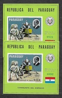 #B104A# PARAGUAY BL 138+138 MUESTRA MNH**, SPACE. DEBUS. - Paraguay