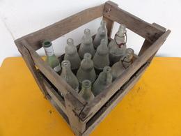 Caisse Bois Est Lorraine Bouteille Orangina Vichy Coca - Other Bottles