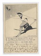 TB Carte Artistique Dessinée  LAC BLANC  - 1er  SKIWETTLAUF - Schi Club Vogesen - 1905 - Orbey