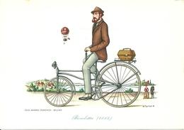 """Casa Mamma Domenica, 2 Cartoline """"il Velocipide"""" Serie 1^ - Illustratori & Fotografie"""