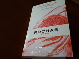 Echantillon Sur Carte **Les Cascades De ROCHAS** Eclat D'Agrumes - Cartes Parfumées