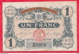 1 Franc Chambre De Commerce D'Angoulème Du 11/04/1917  Dans L 'état (51) - Chambre De Commerce
