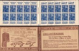 CARNET 257-C 8 Type JEANNE D'ARC Série (S. 163). Parfait état Bas Prix TRES TRES RARE. - Usage Courant