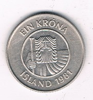 1 KRONA 1981  ZWEDEN /8483/ - Islande