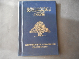 PASSPORT LEBANON لبنان LIBAN STAMPS TAXE TAX FISCAL  + 6 PHOTO - Lebanon