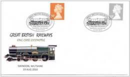 20.- GREAT BRITAIN 2010. SPECIAL POSTMARK. GREAT BRITISH RAILWAYS. KING CLASS LOCOMOTIVE - Trains