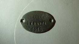 Plaque D'identité De GUILLON Edmond, 27e RI, Citation En 1917 Et En 1918 - 1914-18