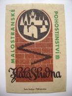 """Czechoslovakia  Matchbox Label 1964 - Prague Little Quarter - """"U Zlate Studne"""" - Restaurant - Boites D'allumettes - Etiquettes"""