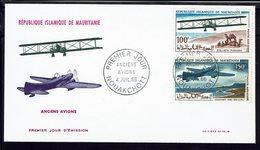 """MAURITANIE - Enveloppe Premier Jour """"Anciens Avions"""" Cachets Nouakchott 4 Juillet 1966 - TB - - Mauritania (1960-...)"""