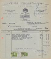 1930: Facture De ## Papeterie – Imprimrie «IMPERIAL», Rue Courbe, 51, BXL. ## à ## Ganterie VAN MECHELEN S.A.,Rue ... - Imprenta & Papelería