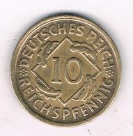 10 PFENNIG  1925  D   DUITSLAND /8487/ - [ 3] 1918-1933 : Republique De Weimar