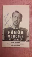 Jean JOURDEN Fagor Mercier Hutchinson Autographe Manuscrit - Cycling