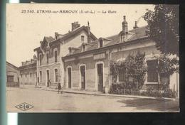 CPA Etang Sur Arroux - La Gare - Circulée - Autres Communes