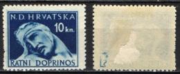 CROAZIA - 1944 - SOLDATO FERITO - MH - Croazia