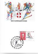 JEUX OLYMPIQUES HIVER - OLYMPICS WINTER GAMES - ALBERTVILLE 1992 - FLAMME OLYMPIQUE DIJON - Jeux Olympiques