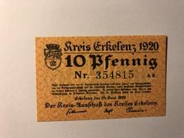 Allemagne Notgeld Allemagne Erkelenz 10 Pfennig - [ 3] 1918-1933 : République De Weimar
