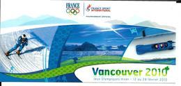 JEUX OLYMPIQUES HIVER - OLYMPICS WINTER GAMES - VANCOUVER 2010- SPONSOR EQUIPE DE FRANCE - Jeux Olympiques