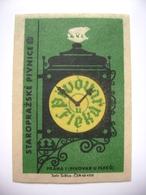 "Czechoslovakia  Matchbox Label 1964 - ""Pivovar U Fleku"" - Old Prague Pub Beerhouse Bierstube Brasserie - Boites D'allumettes - Etiquettes"