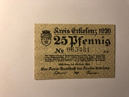Allemagne Notgeld Allemagne Erkelenz 25 Pfennig - [ 3] 1918-1933 : République De Weimar