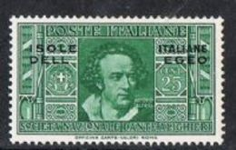 Dodecanese Islands SG73 1932 Dante 25c Mounted Mint [9/10597/7D] - Dodecaneso