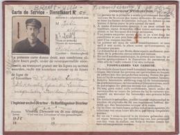 S.N.C.V.-N.M.V.B.-TRAM-DIENSTKAART-CARTE DE SERVICE-LEUVEN-ALFONS GILIS-ST.JORIS-WINGHE-1935-RARE-VOYEZ LES  2 SCANS !! - Autres