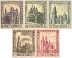 San Marino 1967 Serie Cattedrali - San Marino