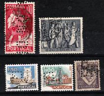 Portugal - Lot De 5 Perforés - Portugal