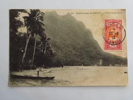 C.P.A. : TAHITI : ILES SOUS LE VENT : Vue De BORA-BORA,  Animé, Timbre En 1913 - Tahiti
