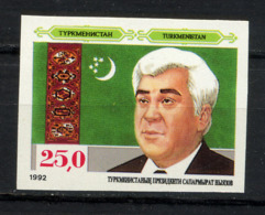 TURMENISTAN 1992, PRESIDENT, Yvert 12, NON DENTELE / IMPERFORATED, 1 Valeur, Neuf / Mint. R328 - Turkménistan