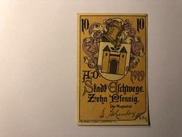 Allemagne Notgeld Allemagne Eschwege 10 Pfennig - [ 3] 1918-1933 : République De Weimar