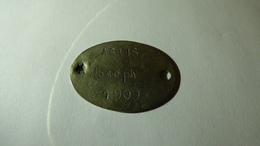 Plaque D'identité De ARVIS Joseph, 10e Génie, Citations 1916, 1917, 1918 - 1914-18