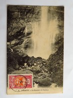 C.P.A. : TAHITI : La Cascade De Fautaua, Animé, 3 Timbres En 1913 - Tahiti