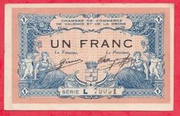 1 Franc Chambre De Commerce De Valence Dans L 'état (58) - Chambre De Commerce