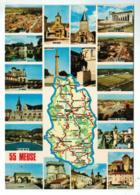 21441 Cpm Carte Géographique Du Département De La Meuse - 55 ! Carte Multivues ! ACHAT DIRECT !! - France